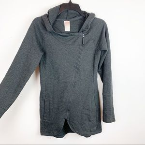 THE NORTH FACE ASYMMETRICAL ZIP UP LONG JACKET SM